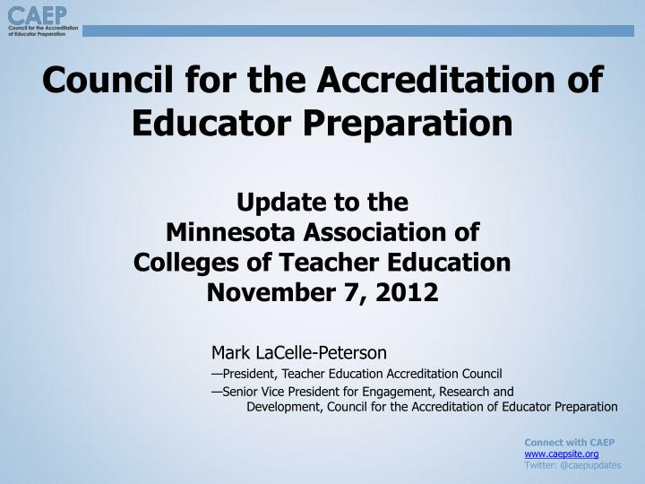 Council for the Accreditation of Educator Preparation