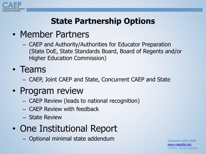 State Partnership Options