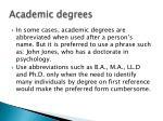 academic degrees