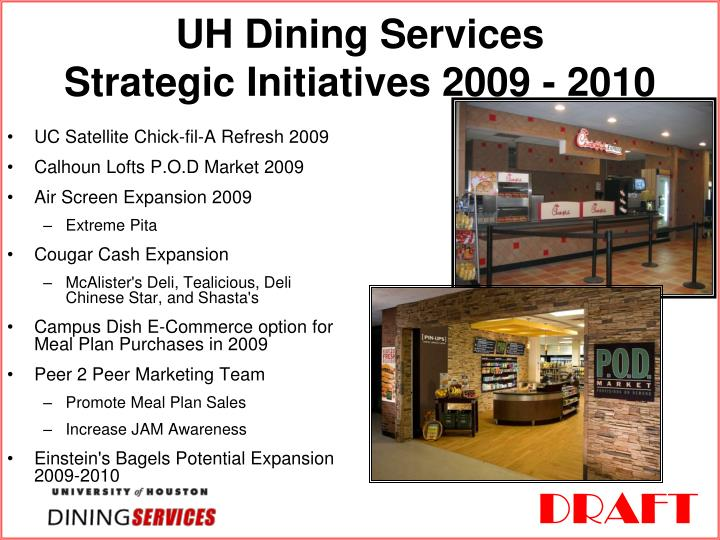 Uh dining services strategic initiatives 2009 2010