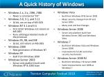 a quick history of windows