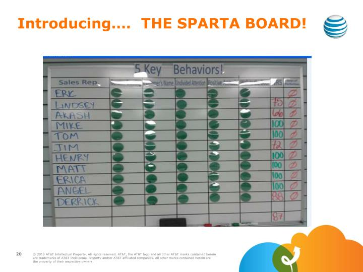Introducing….  THE SPARTA BOARD!