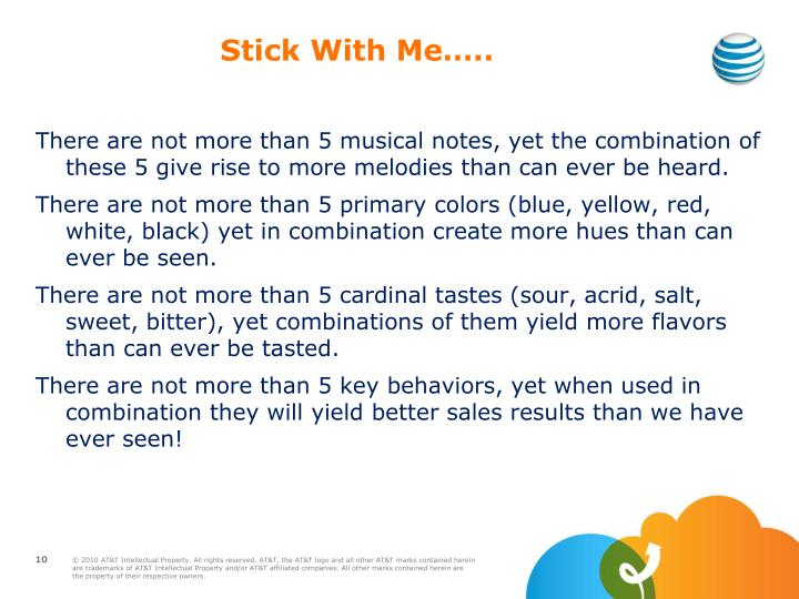 Stick With Me…..