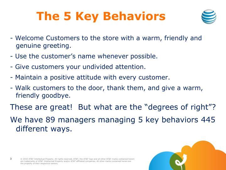 The 5 Key Behaviors