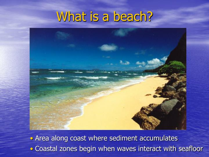 What is a beach?