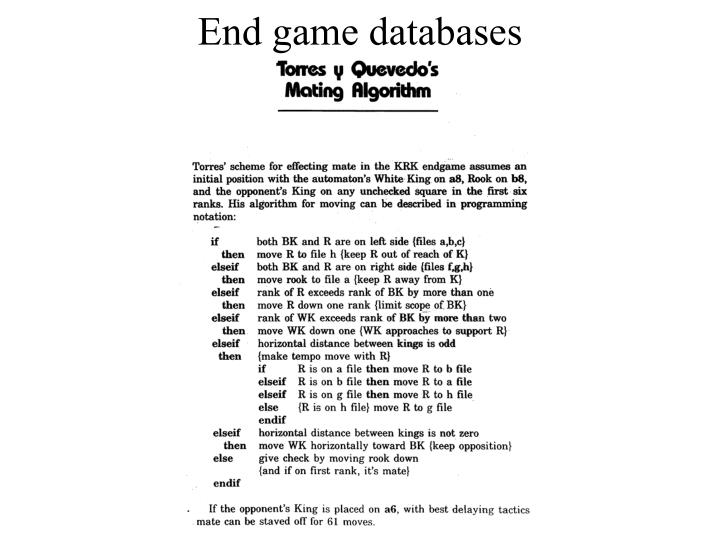 End game databases