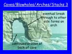 caves blowholes arches stacks 3