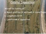 coastal deposition