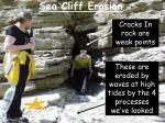 sea cliff erosion