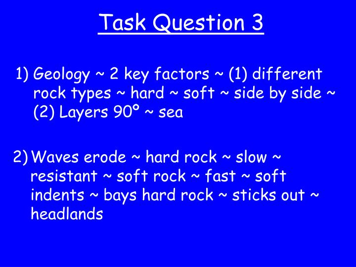 Task Question 3