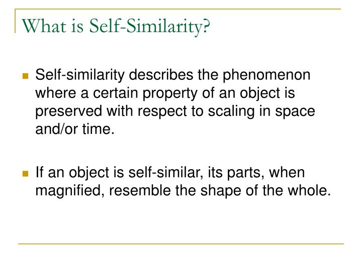 What is Self-Similarity?
