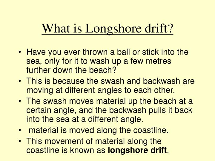 What is Longshore drift?