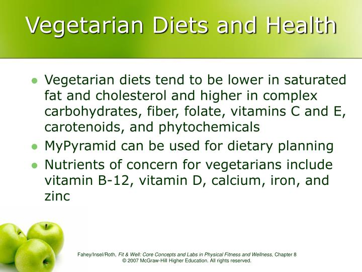 Vegetarian Diets and Health