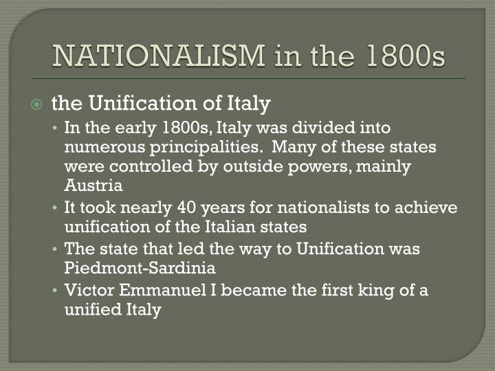 NATIONALISM in the 1800s