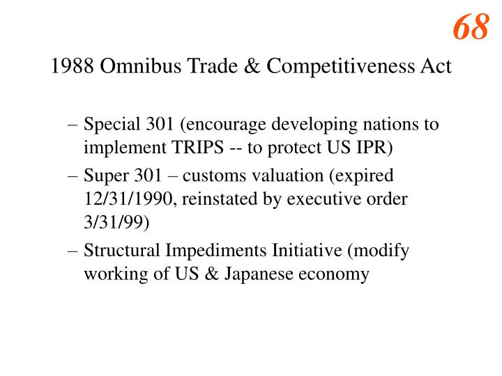 1988 Omnibus Trade & Competitiveness Act