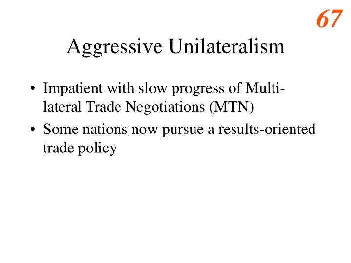 Aggressive Unilateralism
