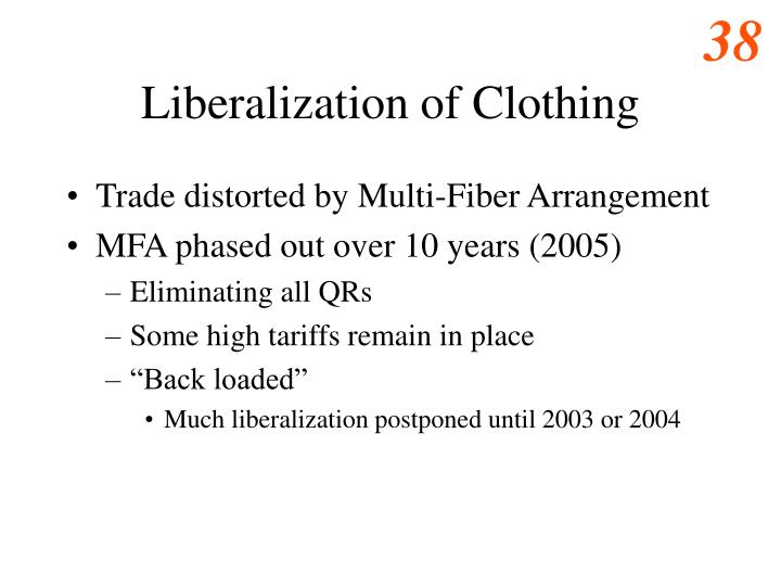 Liberalization of Clothing