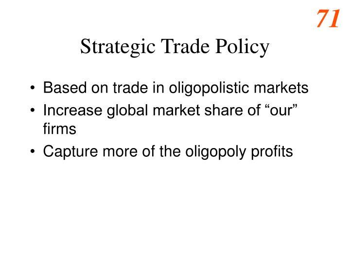 Strategic Trade Policy