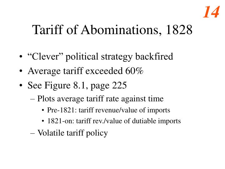 Tariff of Abominations, 1828