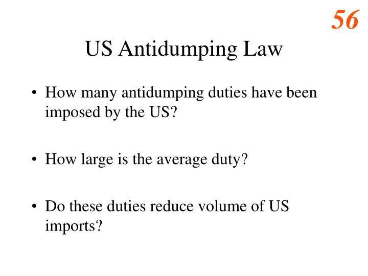 US Antidumping Law