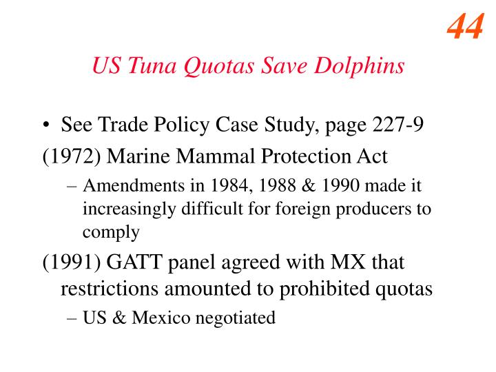 US Tuna Quotas Save Dolphins
