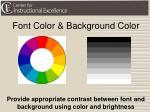 font color background color