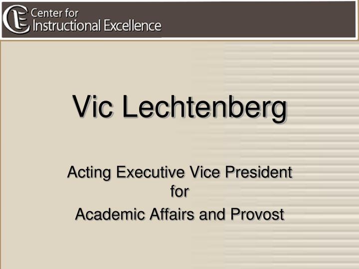 Vic Lechtenberg