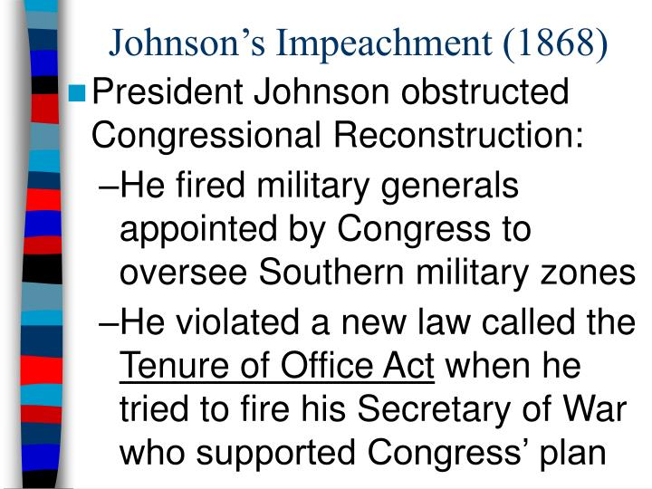 Johnson's Impeachment (1868)
