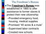 the freedman s bureau