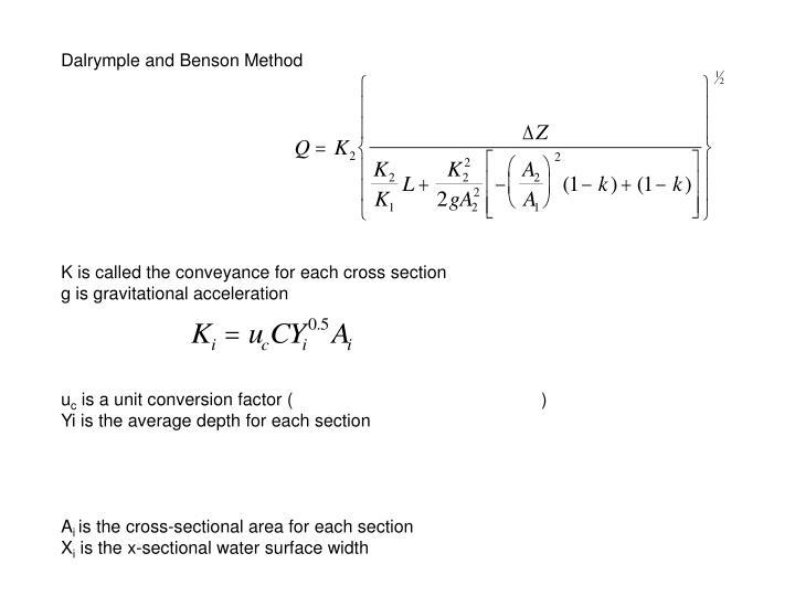 Dalrymple and Benson Method