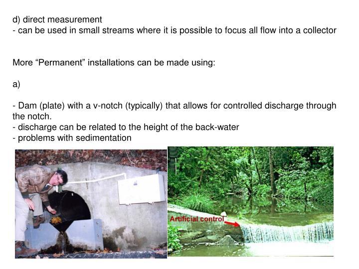 d) direct measurement