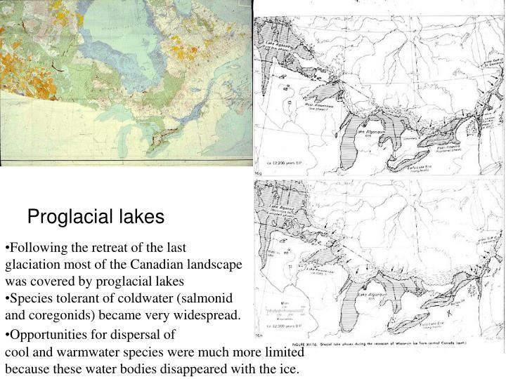Proglacial lakes