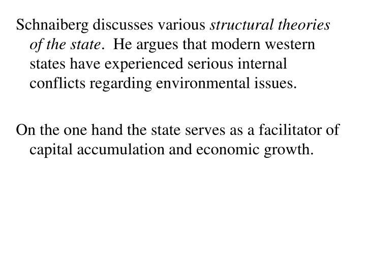 Schnaiberg discusses various