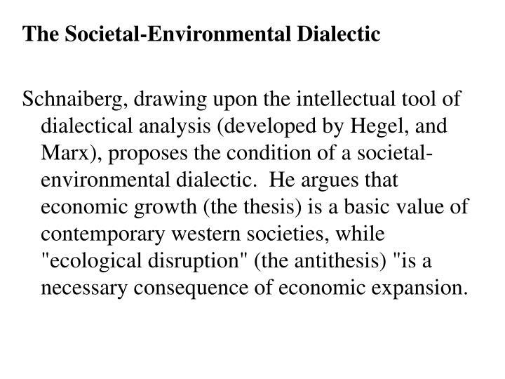 The Societal-Environmental Dialectic