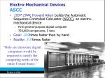 electro mechanical devices ascc