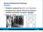 electro mechanical devices edvac