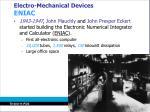 electro mechanical devices eniac