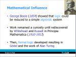 mathematical influence