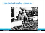 mechanical analog computer