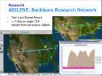 research abilene backbone research network