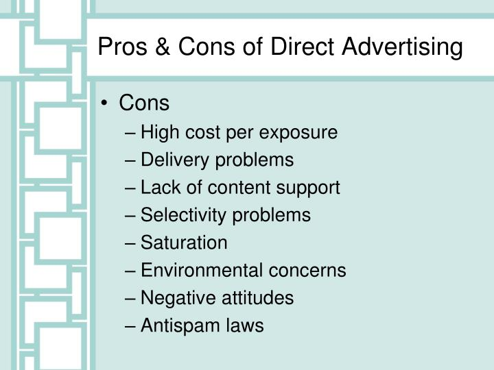 Pros & Cons of Direct Advertising