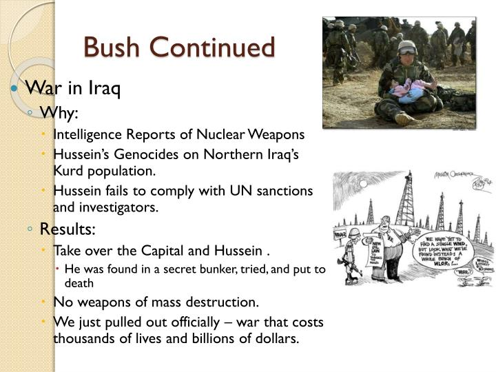 Bush Continued