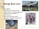 george bush cont