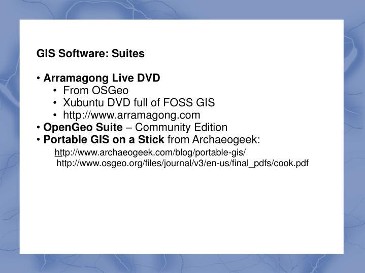 GIS Software: Suites