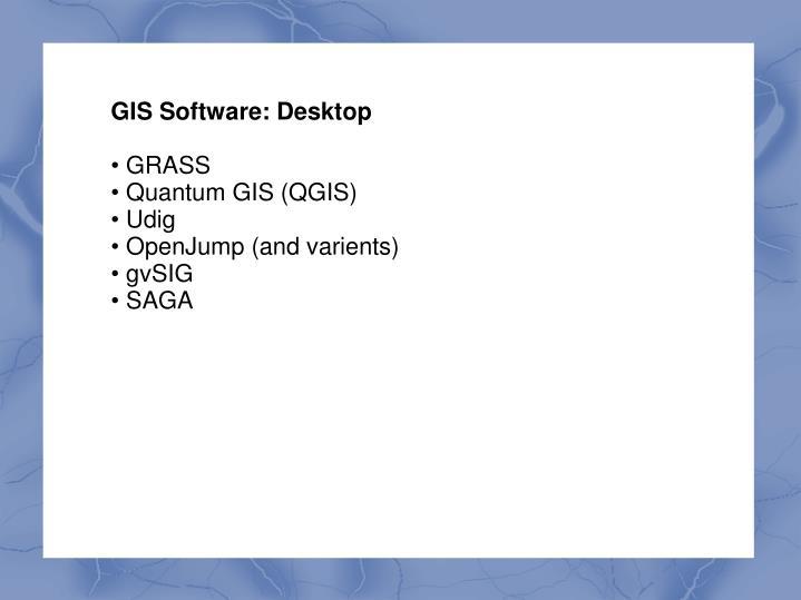 GIS Software: Desktop