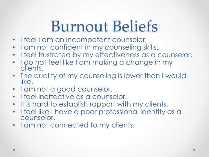 Burnout Beliefs