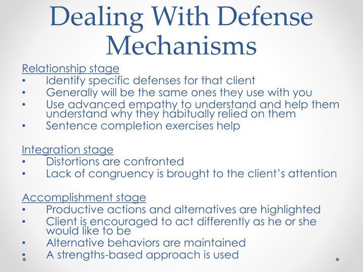 Dealing With Defense Mechanisms