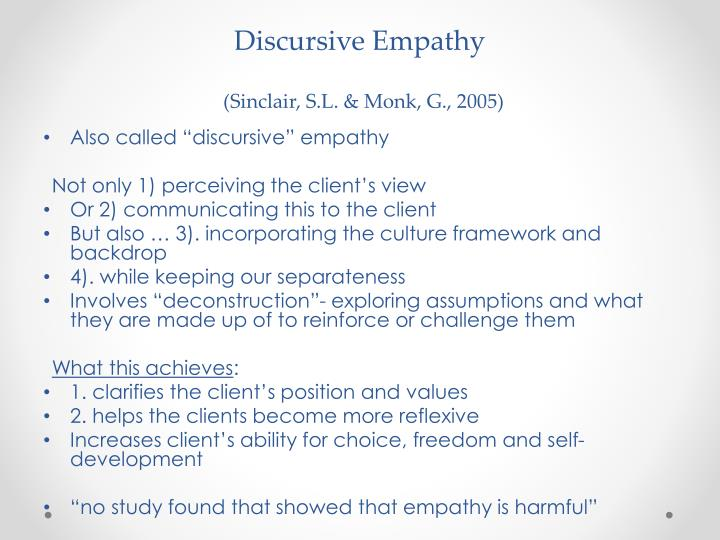 Discursive Empathy