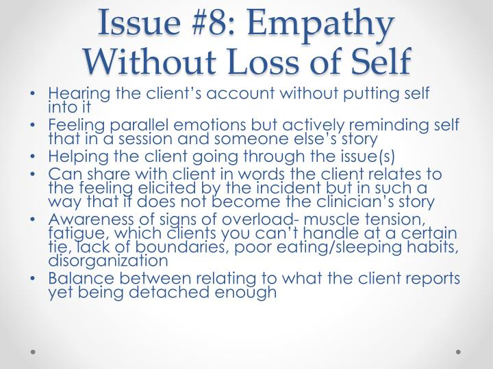 Issue #8: Empathy Without Loss of Self