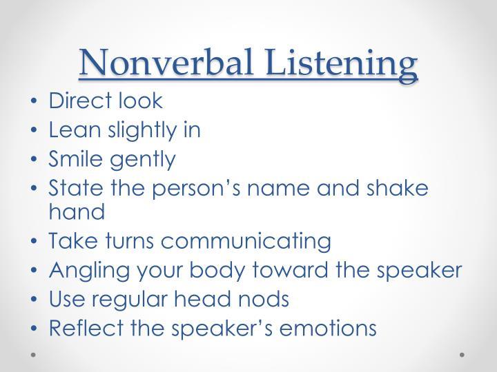 Nonverbal Listening